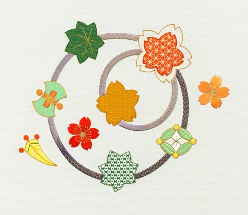 日本刺繍の技法「むしろぬい」02