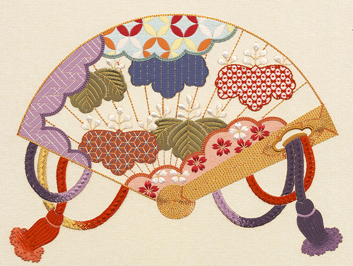 日本刺繍の技法 中結えぬい(組紐ぬい)