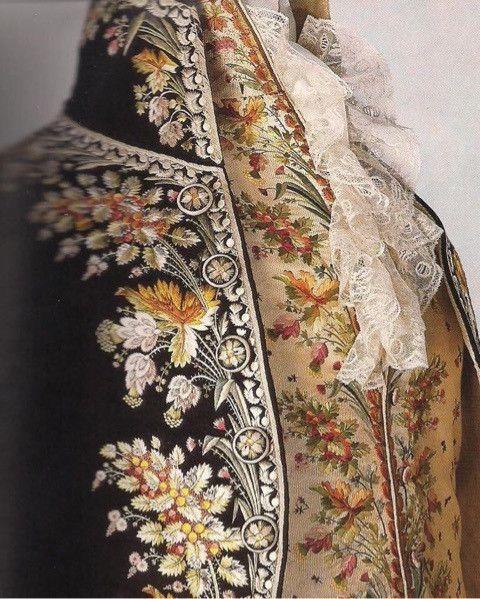 18世紀の西洋刺繍を日本刺繍で表現